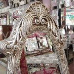 Zarif Model Gümüş Renk Ayaklı Boy Aynası-9