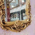 Klasik Model Altın Renk Boy Aynası-11