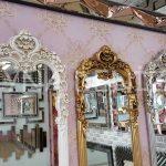 Klasik Model Altın Renk Boy Aynası-19