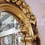 Klasik Model Altın Renk Boy Aynası-9