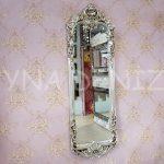 Klasik Model Gümüş Renk Boy Aynası-1