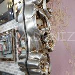 Klasik Model Gümüş Renk Boy Aynası-11