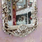 Klasik Model Gümüş Renk Boy Aynası-15