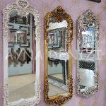 Klasik Model Gümüş Renk Boy Aynası-16