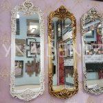 Klasik Model Gümüş Renk Boy Aynası-17