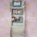 Klasik Model Gümüş Renk Boy Aynası-2