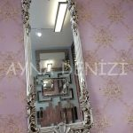 Klasik Model Gümüş Renk Boy Aynası-3