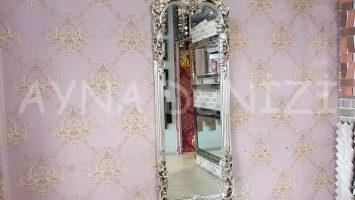 Klasik Model Gümüş Renk Boy Aynası