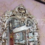 Klasik Model Gümüş Renk Boy Aynası-4