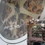 Cm 16214 G Model Aynalı Duvar Saati-12