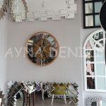 Cm 16214 G Model Aynalı Duvar Saati-5