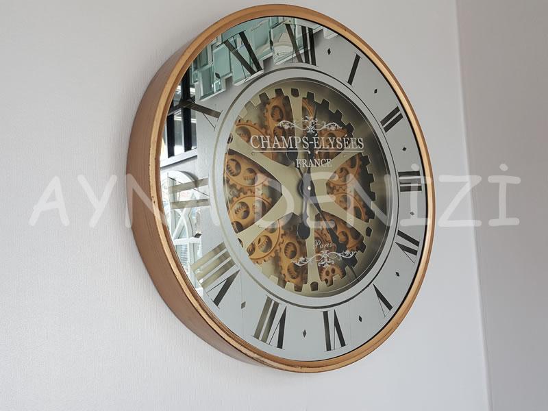 Cm 16214 G Model Aynalı Duvar Saati