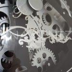 Cm 16214 Model Çarklı Aynalı Duvar Saati-19