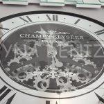 Cm 16214 Model Çarklı Aynalı Duvar Saati-7