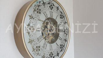 Cm 17311 Model Çarklı Aynalı Duvar Saati
