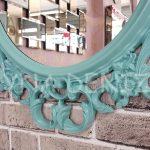 Vintage Taç Model Turkuaz Renk Dekoratif Ayna-16