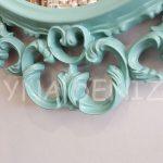 Vintage Taç Model Turkuaz Renk Dekoratif Ayna-20