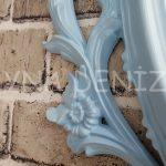 Vintage Taç Model Açık Mavi Renk Dekoratif Ayna-15