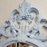 Vintage Taç Model Açık Mavi Renk Dekoratif Ayna-16