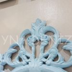 Vintage Taç Model Açık Mavi Renk Dekoratif Ayna-8