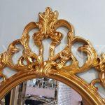 Vintage Taç Model Altın Renk Dekoratif Ayna-11