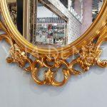Vintage Taç Model Altın Renk Dekoratif Ayna-13