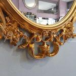Vintage Taç Model Altın Renk Dekoratif Ayna-18