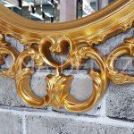 Vintage Taç Model Altın Renk Dekoratif Ayna-19