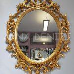 Vintage Taç Model Altın Renk Dekoratif Ayna-2
