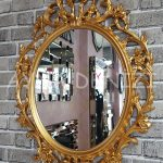 Vintage Taç Model Altın Renk Dekoratif Ayna-3