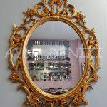 Vintage Taç Model Altın Renk Dekoratif Ayna-4