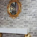 Vintage Taç Model Altın Renk Dekoratif Ayna-6