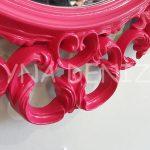 Vintage Taç Model Fuşya Renk Dekoratif Ayna-19