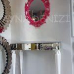 Vintage Taç Model Fuşya Renk Dekoratif Ayna-5
