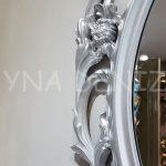 Vintage Taç Model Gümüş Renk Dekoratif Ayna-11