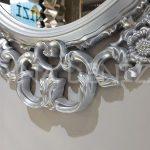 Vintage Taç Model Gümüş Renk Dekoratif Ayna-12