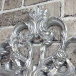 Vintage Taç Model Gümüş Renk Dekoratif Ayna-13