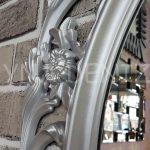 Vintage Taç Model Gümüş Renk Dekoratif Ayna-14