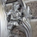 Vintage Taç Model Gümüş Renk Dekoratif Ayna-15