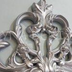 Vintage Taç Model Gümüş Renk Dekoratif Ayna-17