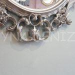 Vintage Taç Model Gümüş Renk Dekoratif Ayna-18