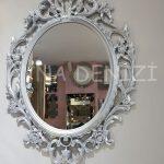 Vintage Taç Model Gümüş Renk Dekoratif Ayna-2