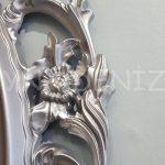 Vintage Taç Model Gümüş Renk Dekoratif Ayna-20