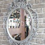 Vintage Taç Model Gümüş Renk Dekoratif Ayna-3