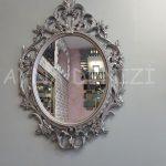 Vintage Taç Model Gümüş Renk Dekoratif Ayna-4