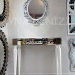 Vintage Taç Model Gümüş Renk Dekoratif Ayna-5