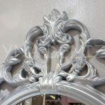 Vintage Taç Model Gümüş Renk Dekoratif Ayna-9