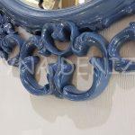 Vintage Taç Model Lacivert Renk Dekoratif Ayna-12