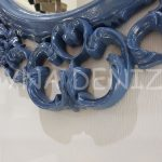 Vintage Taç Model Lacivert Renk Dekoratif Ayna-13