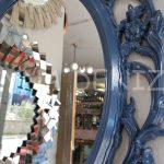 Vintage Taç Model Lacivert Renk Dekoratif Ayna-14